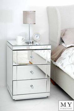 Garbo Mirrored Chest - Tall from GlamFurniture.com - $1197.00 ...