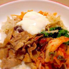 豚肉ビビンバ丼 - 6件のもぐもぐ - ビビンバ丼 by kaorukonnoQAi