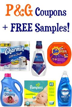 P&G Coupons + FREE Samples!