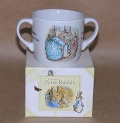 Wedgwood Beatrix Potter Peter Rabbit TWO Handled MUG | eBay