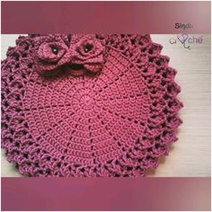 Crochet Placemats, Crochet Doilies, Crochet Stitches, Skirt Patterns Sewing, Doll Clothes Patterns, Crochet Patterns, Crochet Baby, Knit Crochet, Crochet Hat Tutorial