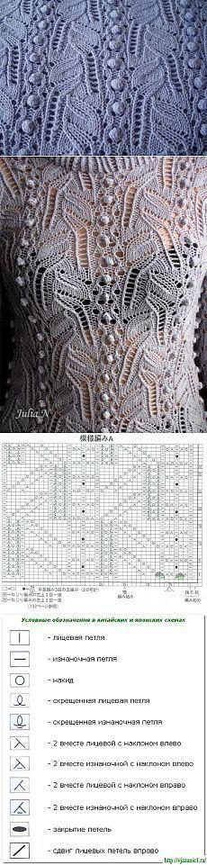 ВЕЛИКОЛЕПНЫЙ ЯПОНСКИЙ АЖУР. / Вязание спицами / Вязание для женщин спицами…