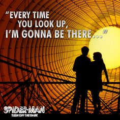 NEW YORK'S MOST HEROIC LOVE STORY: Witness the most dazzling, pulse-pounding romance on #Broadway as Peter Parker and Mary Jane's story unfolds.   #NewYork #Romance #Marvel #Love #SpiderMan