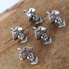 Sterling pirate charm sterling silver charm Pirate jewelry Pirate booty skull crossbones charm OW2592 by Andiesvintage on Etsy