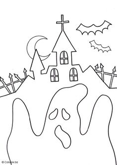 Coloring page halloween ghost - img 6816.