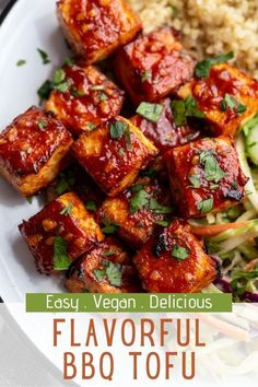 This BBQ Tofu is simple to make and PACKED with flavor! It can be baked or pan fried and both are delicious! How To Make Bbq, Bbq Tofu, How To Press Tofu, Marinated Tofu, Vegetarian Cooking, A Food, Yummy Food, Vegan, Dishes