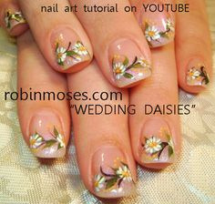 Possible wedding nails for me! Other blue ones for my bridesmaids maybe to match their dresses.