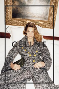 Daria Werbowy for Céline Fall 2014.  Photographed by Juergen Teller shoulder length