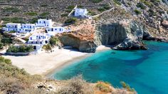 Folegandros, Greece, a mostly untouched gem in the midst of the Cycladic Islands, has yet to be overwhelmed by tourists. Travel Channel's choice of one of the World's Sexiest Beaches Vacation Destinations, Dream Vacations, Oh The Places You'll Go, Places To Visit, Just Dream, Tropical Beaches, Travel Channel, Most Beautiful Beaches, Greece Travel