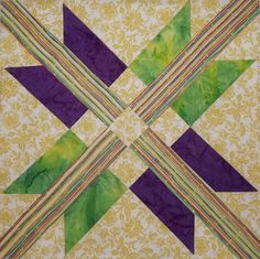 Free Quilt Pattern - Mexican Star Block by Jeanie Brown