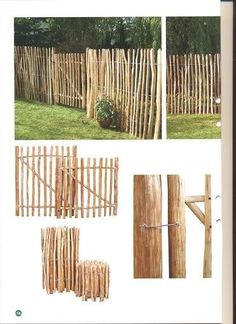 Kastanjestaket bäst i pris Materials for the garden fence For garden fences th Diy Fence, Backyard Fences, Wooden Fence, Wooden Garden, Fence Ideas, Small Gardens, Outdoor Gardens, Cerca Natural, Decorative Garden Fencing
