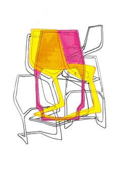 Design Museum Shop: View All Products > Artwork + Posters > Konstantin Grcic - The Chairs - Limited Edition Print