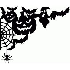 Welcome to the Silhouette Design Store, your source for craft machine cut files, fonts, SVGs, and other digital content for use with the Silhouette CAMEO® and other electronic cutting machines. Halloween Images, Holidays Halloween, Vintage Halloween, Halloween Crafts, Happy Halloween, Halloween Decorations, Halloween Stencils, Halloween Projects, Silhouette Projects