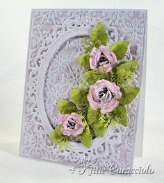 Belleek Inspired Crinkled Rose by kittie747 - Cards and Paper Crafts at Splitcoaststampers