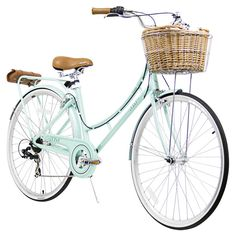 Nadine 7-Speed Women's Cruiser Bike in Pearl Mint - Be Happy & Healthy