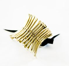 Ursula  brass cuff bracelet BISJOUX  pure by BISJOUX on Etsy, $75.00