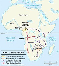 La expansión bantú 3000-1000 aC