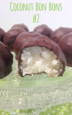 These Coconut Bon Bons are a great treat to make for Easter or Christmas. They have rich & chewy super moist centers made of butter, coconut, and condensed milk, and they get dipped in dark chocolate. They are awesomely delicious! Chocolate Coconut Candy Recipe, Coconut Bon Bons Recipe, Coconut Candy Recipe Condensed Milk, Coconut Balls, Coconut Cookies, Holiday Desserts, Holiday Candy, Christmas Candy, Baking Recipes