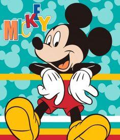 Kuschlige Microfaser- Fleecedecke Motiv Disneys Mikey Maus