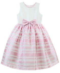 Jayne Copeland Little Girls' Pink Stripe Dress
