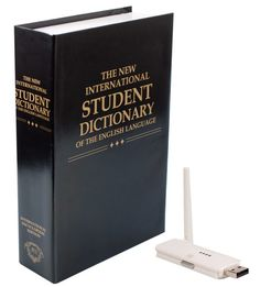 Hopefully a thief won't be hitting the books. This student dictionary features a built-in hidden video camera. Digital transmissions provide crystal clear image with zero interference. Best Spy Camera, Hidden Video Camera, Wireless Spy Camera, Hidden Book, Covert Cameras, Spy Gear, Pinhole Camera, Card Storage, Wall Outlets