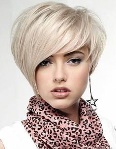 Asymétrique cheveux court