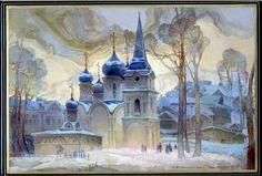 Michail Shelukhin, Fedoskino lacquer box, Église de Saint-Vladimir au monastère d'Ivanovo