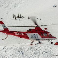 Ski patrol training... awesome life flight helicopters