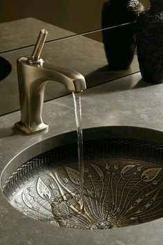 Sink via Eastern Luxury: 48 Inspiring Moroccan Bathroom Design Ideas Moroccan Bathroom, Moroccan Decor, Moroccan Style, Moroccan Interiors, Moroccan Design, Moroccan Lanterns, Turkish Decor, Bohemian Bathroom, Sweet Home