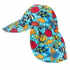 JoJo Maman Bebe - Flap Sun Hat - Fish