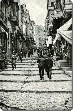 Karaköy 1900's. Beyoğlu. Istanbul. Turkey.