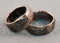 Silver Kennedy Half Dollar Coin Ring 1964 by CoinTendeRing on Etsy
