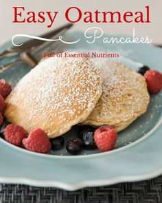 Easy Oatmeal Pancakes that are packed with Essential Nutrients #Yevo #Yevorecipes yevo international