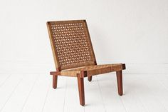 Woven Mid Century Lounge Chair by OtherTimesVintage on Etsy