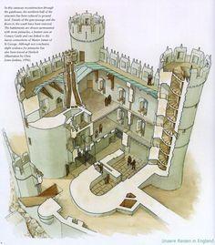 castles castle medieval fantasy welsh floor map town plan minecraft harlech england layout keep layouts cutaway designs navštivit toy reisen