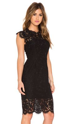 RACHEL ZOE Suzette Lace Mini Dress em Preto | REVOLVE