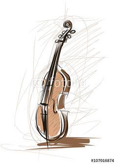 Vector: Vector sketch of a violin
