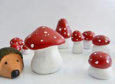 épinglé par ❃❀CM❁✿Jana et moi | Tuto : comment réaliser des champignons en argile ?