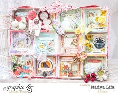 How to Create Double Sided Shadowbox Calendar With Tags by Nadya using Time to Flourish #graphic45 #g45handmadegifttutorials