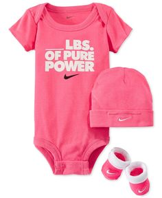 1e5d86adcf3b1 Nike Baby Girls  3-Piece Pure Power Bodysuit