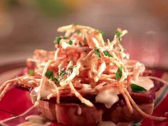 Grilled Ham and Beerbit Horseshoe recipe from Jeff Mauro via Food Network
