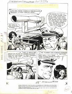 Operation Crossbow  Dell Comics  Original page 1, Jack Sparling art, for the comic book adaptaion. Recommend reading this comic!