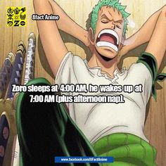 zoro's sleeping schedule