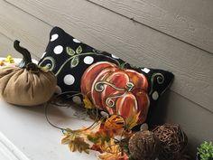 Pumpkin Pillows, Fall Pillows, Throw Pillows, White Pumpkins, Fall Pumpkins, Cottage Christmas, Burlap Bows, Thanksgiving Decorations, Fall Decorations