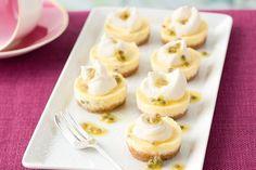 Mini passionfruit cheesecakes