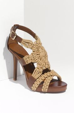 537add2e9fe5 Tory Burch Fleur High Heel Sandal - Lyst Summer Heels
