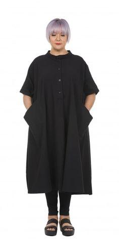 Moyuru Black Heavy Cotton Oversized Dress Shirt idaretobe.com
