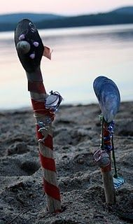 Magical mermaid wands made with beach shells and glass