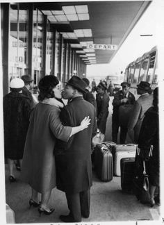 Dr. and Mrs. King share a kiss as he departs for a 1965 trip, by Moneta Sleet Jr [2099 × 2887] - Imgur