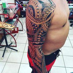 Polynesian Tribal Sleeve by Lai